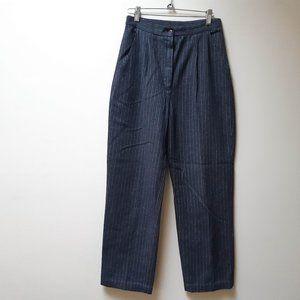 vintage high waist wool trousers / pinstripe pants